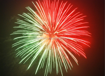 CE approved shells half red and half green fireworks