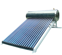 Integrated Pressurized Bearing Solar Water Heater With water Tank Heat Pipe Solar Hot water Stainless Steel Solar Geysers