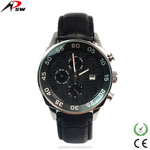 Fashional man changeable genuine leather strap watch with 1pcs low MOQ from China supplier