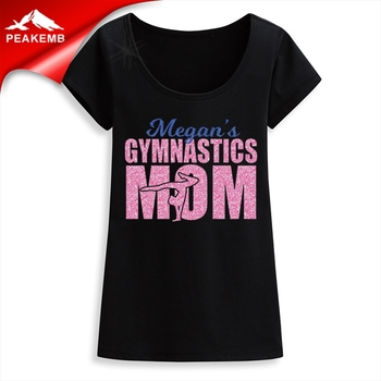 Gymnastics Glitter Heat Transfer Vinyl Motif Design for tee shirts