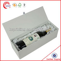 White Paper Wine Box for festive wine promotion