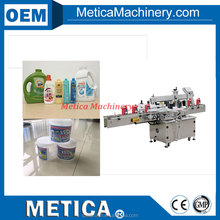 MT-3510 automatic adhesive sticker bottle filling capping and labeling machine line