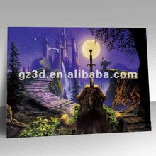 Peaceful 3d natural scenery pictures of magic bridge oil painting (OL-001)