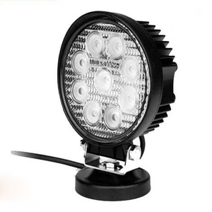 High quality round shape CE ROHS listed waterproof 27w tractor led work light