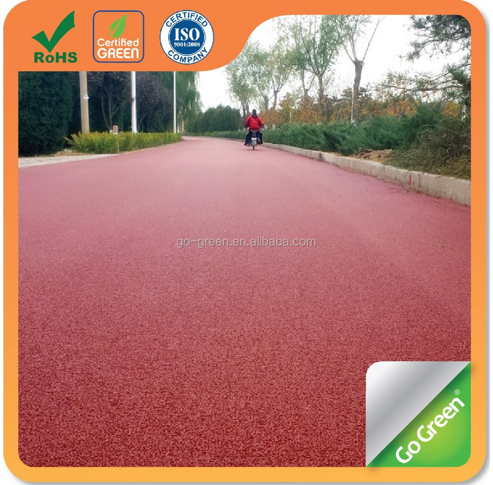 Go Green coloured asphalt / asphalt color coating for bicycle lane