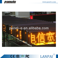 LANPAI Factory Price P10 Single Yellow Led Mini Bus Sign LED Display for Bus Route Information