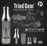 2014 Shenzhen Paipu Electron Cigarettes Triad Gear 3 Function Atomizer Wax&Oil&Dry Herb Vaporizer