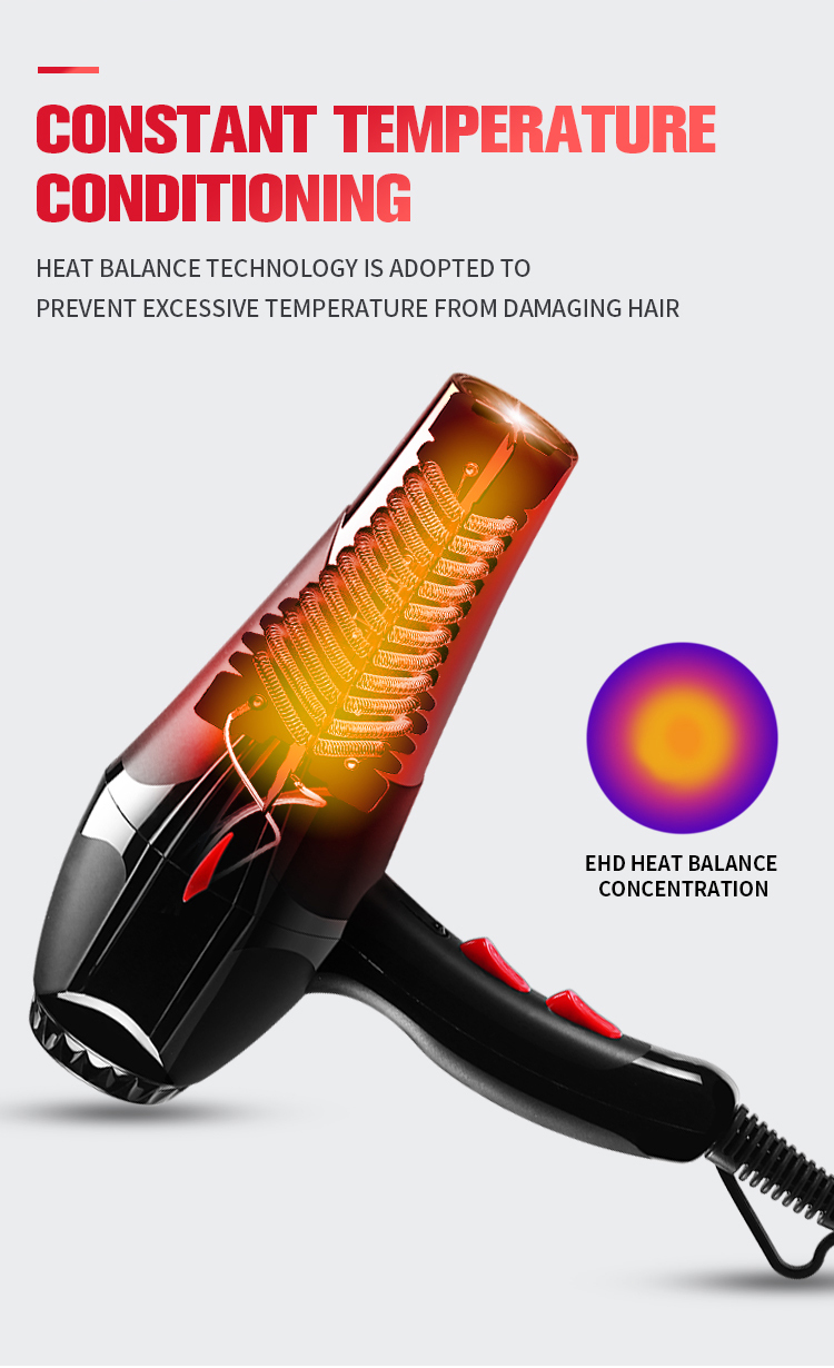 DC motor Hair Dryer Professional Salon Hair Dryer With Concentrator Hair Blow Dryer