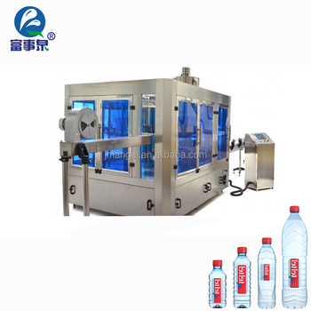 Factory made 3-in-1 full automatic plastic bottle water filling machine