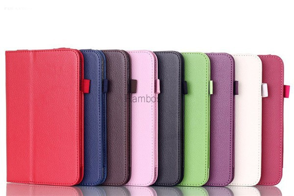 Folio Book PU Leather Stand Case Smart Cover Capa Para for Levono Tab A8 A5500 A3000 / A3300/S8-50 / A7-10 / A7-30