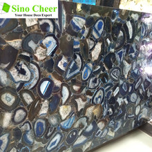 Best Polished precious blue agate stone countertop