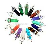 Natural semi precious stone gems clear crystal quartz druzy necklace