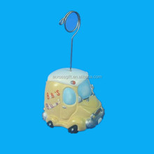 Customized small cure car polyresin hanging ornament