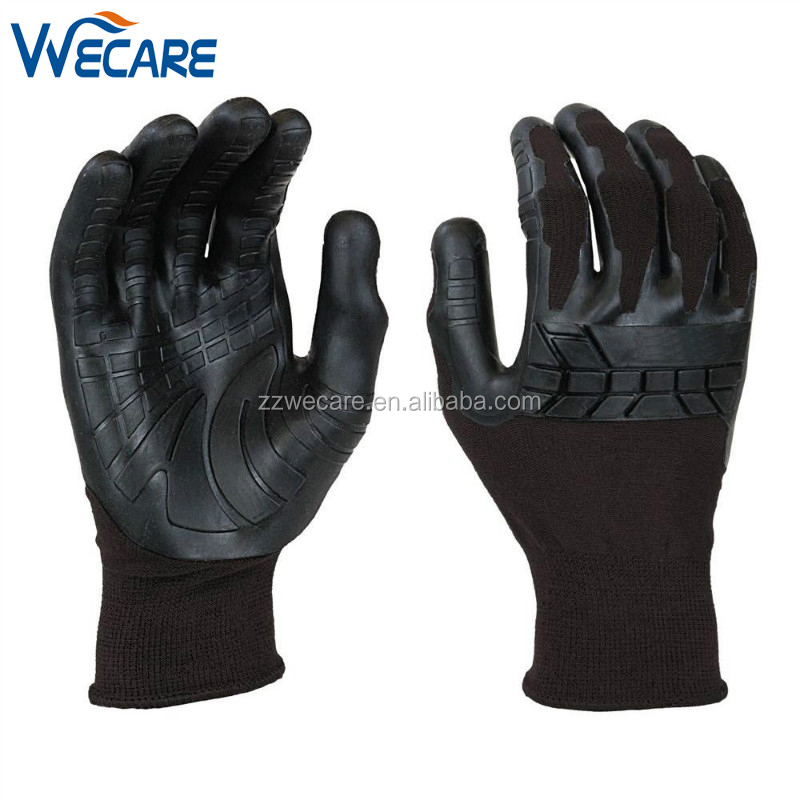 Seamless Knitted Liner Injection Moulded Thermoplastic Rubber Palm Advanced Comfort Grip Handling Glove