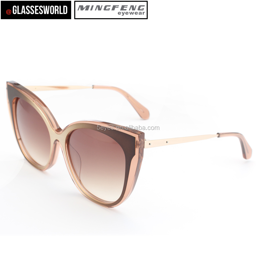 Newest cat eye sunglasses high quality custom acetate eyewear vintage sunglasses