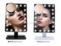 22 LED illuminated vanity mirror 10X magnifying round mirror LED make up makeup tool vanity mirror with lights