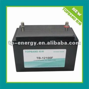 Rechargeable 12V 100Ah lithium ion marine battery