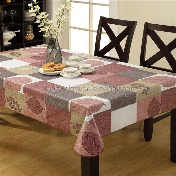 New design good quality printed pvc table cloth China