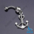 hot 316l stainless steel & alloy belly ring belly piercing body jewelry