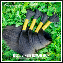 Hot sale clip in hair extension, extension hair brazilian human, 100% virgin real girl pussy hair