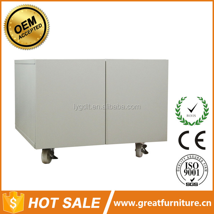 Industrial Mobile Metal Printer Stand With Doors