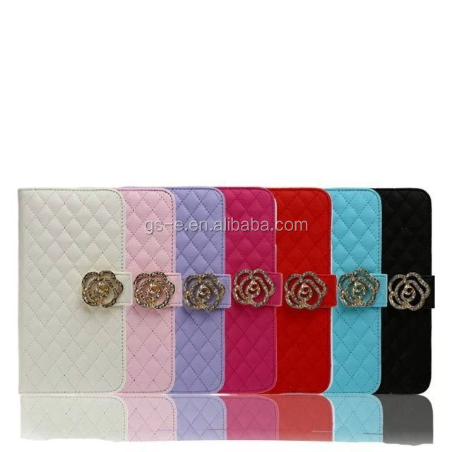 Elegant Stick Drill Flowers Leather Flip Case For Lenovo a390