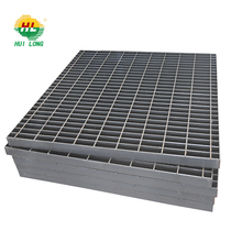 welded bar/steel grating/grid/walkway metal mesh/stair tread