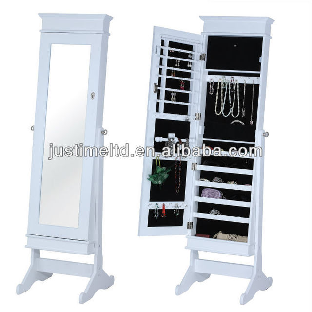 WO-W6074Antique cheval mirror with jewelry cabinet,Solid Wooden Standing Armoire Cabinet,Hand Painted Asian Wooden Cabinet