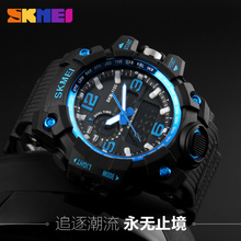 china supplier relojes hombre chronograph watch men high quality dual time plastic analog digital watch