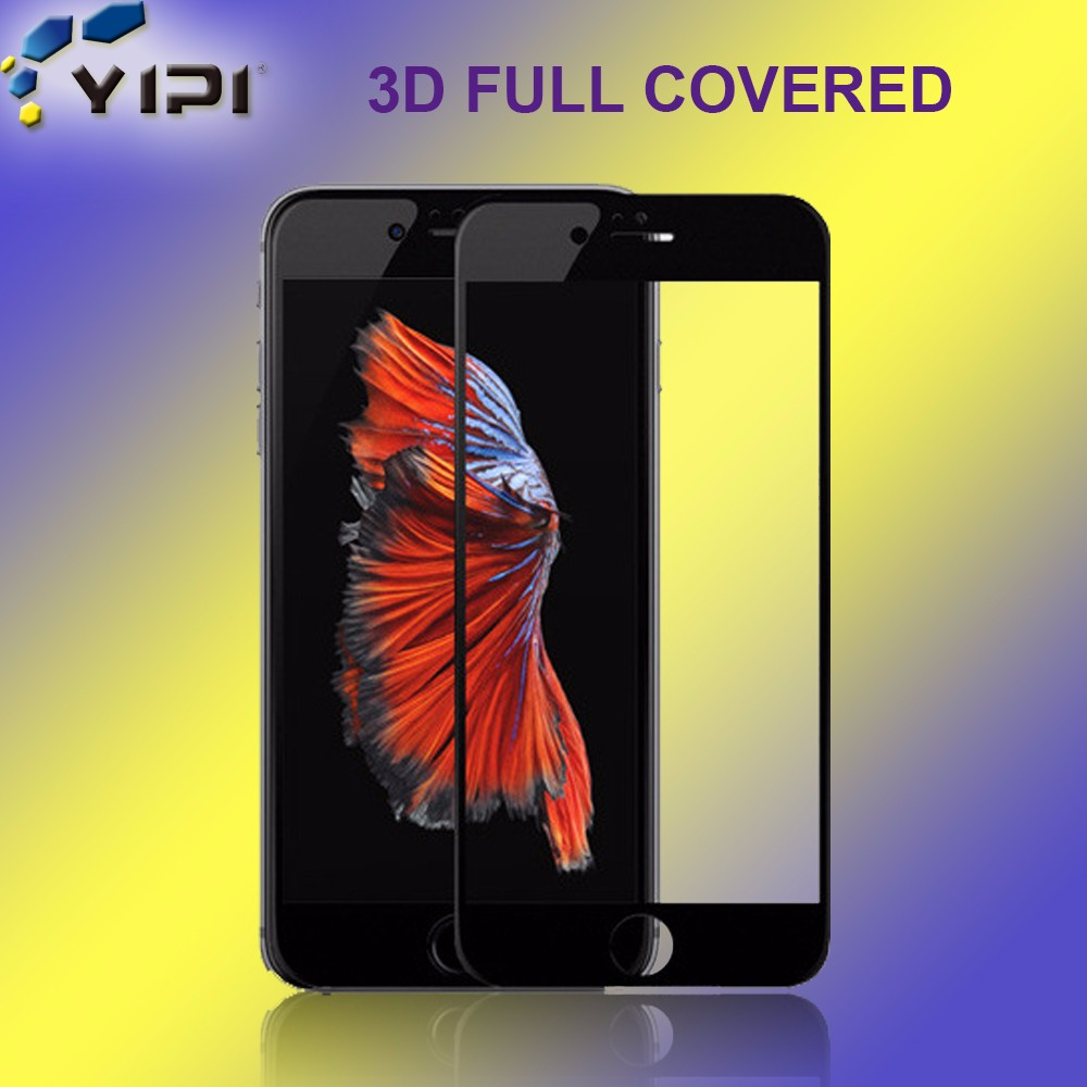 Wholesale Clear Anti Oil Screen Guard, Hydrophobic 3D Curved Edge Full Cover Screen Protector For iPhone 6 Plus