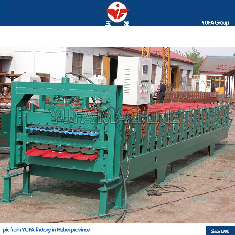 YUFA used corrugated tile metal Roofing sheet double layer roll forming machine