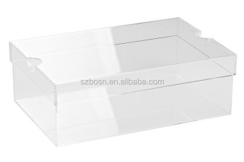 Clear Acrylic Sneaker Box with open lid or sliding lid