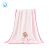 Exporting standard exquisite soft comfortable fleece minky knitted baby blanket
