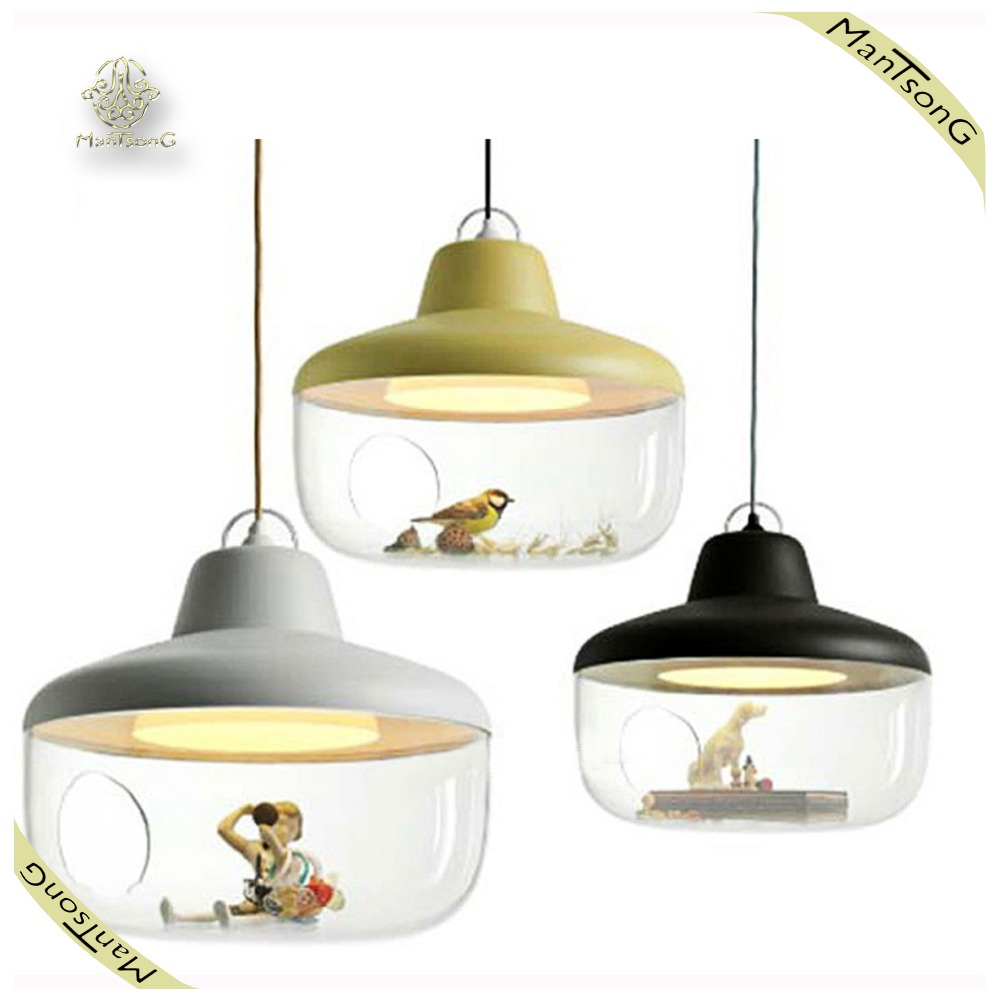 Nordic American style glass indoor lighting coffee bar acrylic hanging pendant light