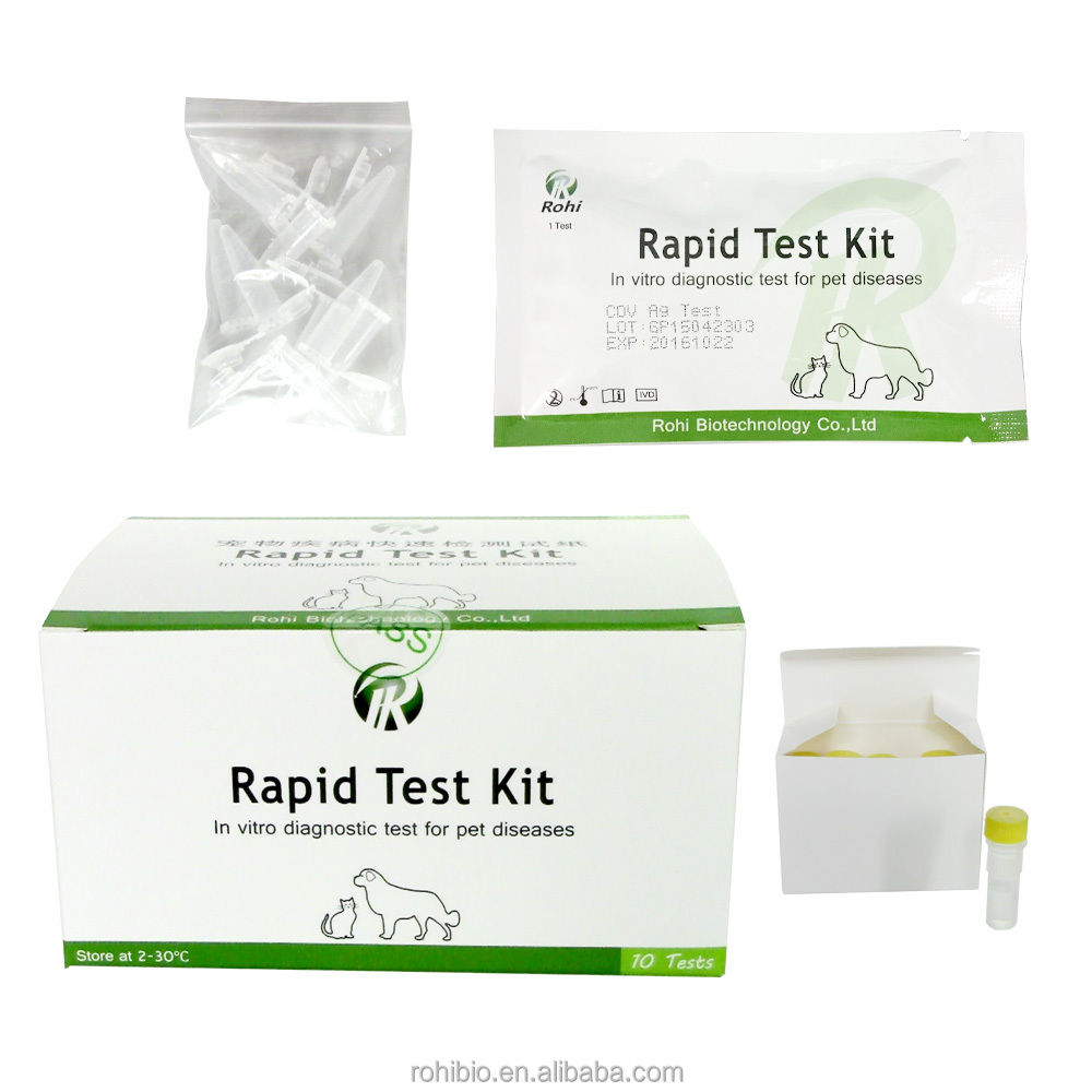 Hot sale Rabies virus rapid test/Veterinary dog rapid tes kit
