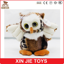 big eyes plush owl toy good quality stuffed eagle toy factory hot sale plush owl soft toy