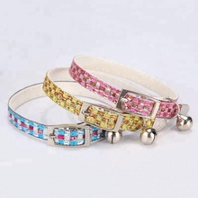 wholesale Small Dog Cat pet Teddy Fashion colorful cat collar
