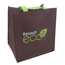 Professional Wine Non Jute Woven Shopping Bag With Length Handle