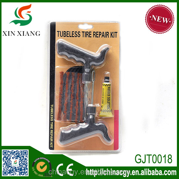 Tubeless tire repair kit, tire repair tool