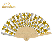 Antique customized promotion wooden hand fan hot selling