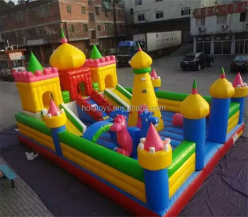 Hola Palace style inflatable bouncy castle/new inflatable castle on sale