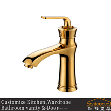 Faucet Factory brass lavatory filter water gold faucet