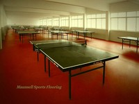 High quality anti-slip indoor pvc/rubber sports flooring for table tennis