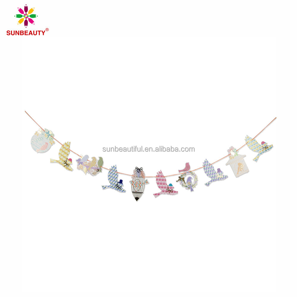 Animal shape paper garland bunting banner for home decor, party and events