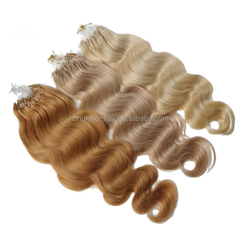 China Hair Factory Best Selling Products Virgin Human Hair Brazilian Micro loop Ring Hair Extension