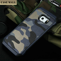 Cell phone case for samsung galaxy s6 edge Camouflage 2 in 1 for samsung galaxy s6 edge case