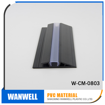 China pvc manufacturer pvc rigid decoration material step step side sealing(transparant)