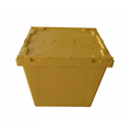 Stacking loading 225kg attached hinged lids storage plastic container