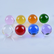 home Clear crystal decorations Delicate k9 glass ball seven color crystal ball