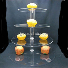 Excellent quality 4 tier plexiglass wedding cake stand